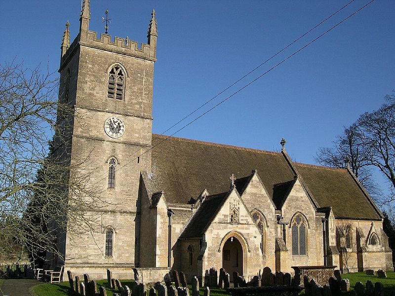 St Martins Church, Bladon, Woodstock, Oxfordshire, England